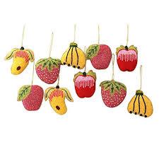 novica decorative beaded hanging ornaments assorted