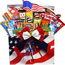 junk food gift baskets all american snacker gift box of candy and junk food