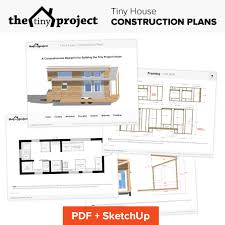 tiny house on wheels floor plans blueprint for construction tiny project tiny house construction plans