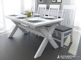 dining room timber dining room table simple set wood in white