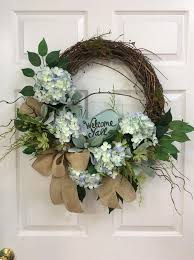 hydrangea wreath looking hydrangea wreaths for front door diy 25 unique wreath