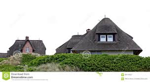 houses with thatched roofs island of sylt stock photo image