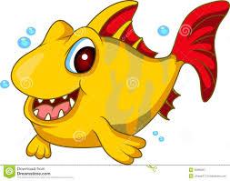 cute yellow fish cartoon royalty free stock photography image