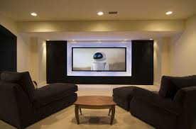 Basement Remodeling Ideas On A Budget by Small Media Room 14717