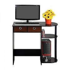 Small Computer Desk With Drawers Small Computer Desk Writing Laptop Table Drawers Espresso Black