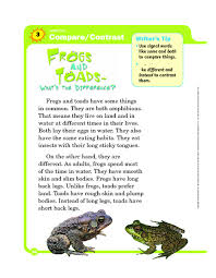 comparing frogs and toads lesson plans u0026 worksheets