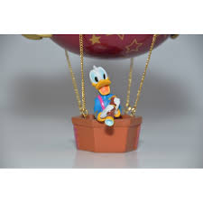 25th anniversary donald duck in air balloon ornament
