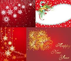 free merry christmas happy new year cards free vector download