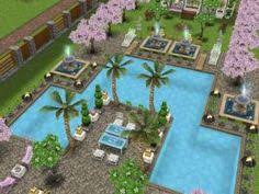 Sims 3 Garden Ideas Sims Freeplay I Like The Garden Pool And Fountains Tipografi