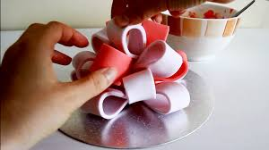 how to make a fondant icing big bow for cake decorating happyfoods