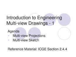 ppt introduction to engineering multi view drawings 1