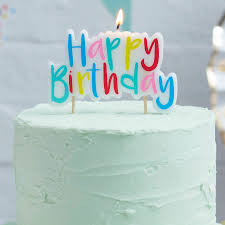 birthday cake candles mulit coloured happy birthday cake candle by