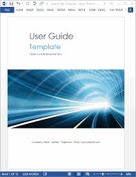 free manual template word user guide template ms word templates and free forms