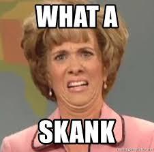 Skank Meme - what a skank disgusted facehsush meme generator
