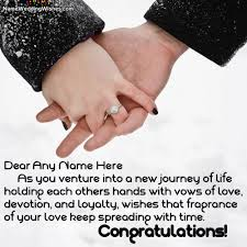 wedding wishes new journey holding happy wedding day wishes with name