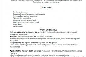 Maintenance Mechanic Resume Examples by Building Maintenance Mechanic Resume Reentrycorps