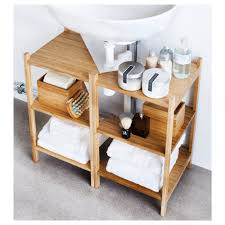 Under Sink Storage Ideas Bathroom by Under Pedestal Sink Shelves Best Sink Decoration