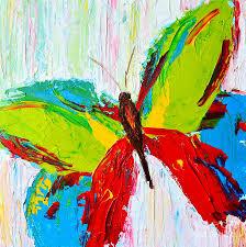 wild butterflies modern impressionistic art palette knife