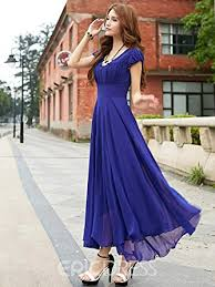 raabta royal blue long dress with cape sleeve x large amazon in