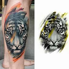 askideas com media 49 tiger design for leg jpg