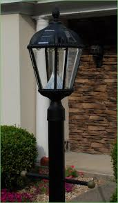 solar powered outdoor l post lights lighting reflection lp 02 solar powered led light l post