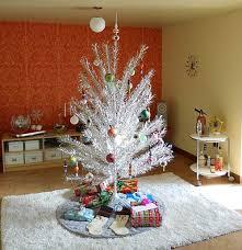 retro silver tree tree decoration vintage