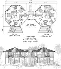 Multi Family Home Floor Plans Commercial Collection Comm Multi Family Elevated Duplex Floor Plan