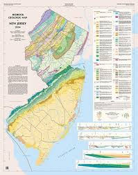 map of nj njdep new jersey geological and water survey bedrock geologic