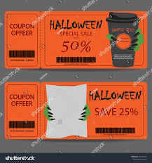 halloween web template halloween gift voucher certificate coupon invitation stock vector