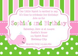 2nd birthday invitation wording free templates