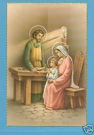vintage catholic large holy card postcard holy family jesus