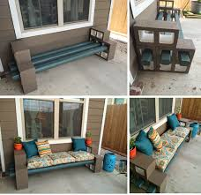 the pry posse diy cinder block bench front garden pinterest