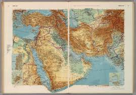 Middle East Map Near East Middle East David Rumsey Historical Map Collection