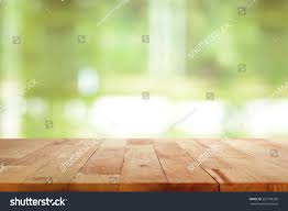 Wooden Table Top View Png Wood Table Top On Blurred Green Stock Photo 267308255 Shutterstock