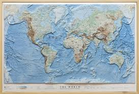 3d Map Of The World by Relief Map Of The World As 3d Map