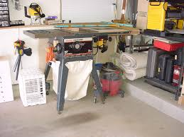 table saw dust collector bag craftsman tablesaw modifications