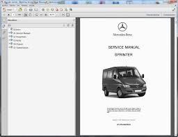 mercedes repair manuals mercedes sprinter workshop service repair manual ebay