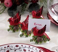 elegant christmas cardinal name card holder set 6 pc elegant