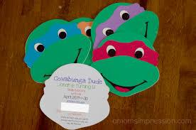 teenage mutant ninja turtles party invitations cloveranddot com