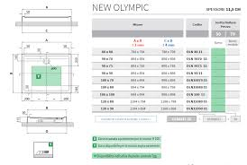 piatto doccia rettangolare 70 x 80 doccia 100 x 80 new olympic novellini h 4 5 rettangolare