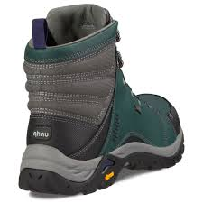 womens boots green ahnu s montara waterproof mid hiking boots muir green