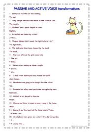 Coordinating And Subordinating Conjunctions Worksheets 503 Free Esl Passive Voice Or Active Voice Worksheets