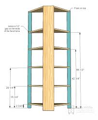 Easy Wood Shelf Plans by Ana White Corner Cupboard Diy Projects