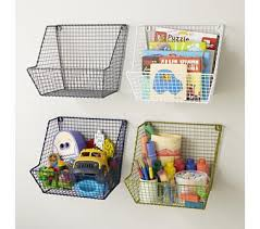 Kids Storage Shelves With Bins by Kids Storage Wire Wall Storage Bins In Shelf U0026 Wall Storage