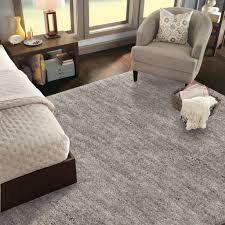 Solid Black Area Rugs Shop Mohawk Home Rectangular Gray Solid Tufted Area Rug Common 8