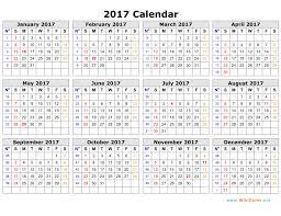 2017 calendar template monthly calendar 2017