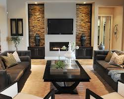 Two Sided Couch Furniture On Either Side Fireplace Living Room Contemporary With