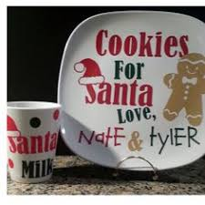 cookies for santa plate cookies for santa personalized plate and vintage milk bottle 12