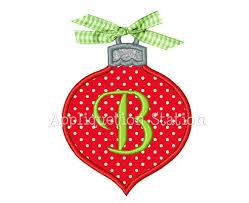 ornament tear drop applique machine embroidery