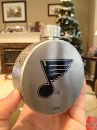 chris degroat st louis blues hockey puck flask chris creamer s
